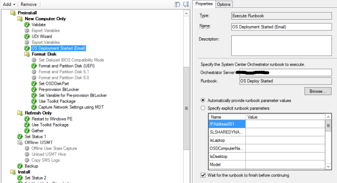 Orchestrator with OSD – smsagent