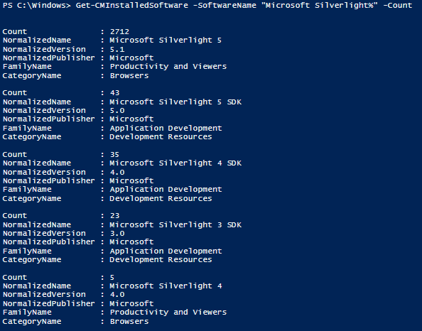 sccm software inventory with powershell – smsagent