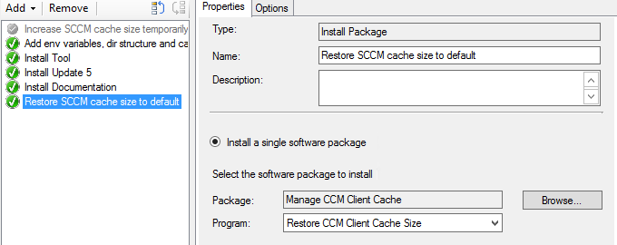 Temporarily Increasing the ConfigMgr Client Cache Size for a