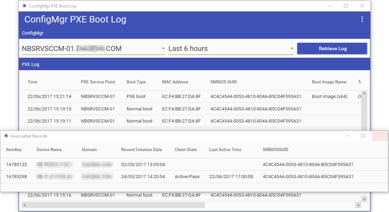 ConfigMgr PXE Boot Log