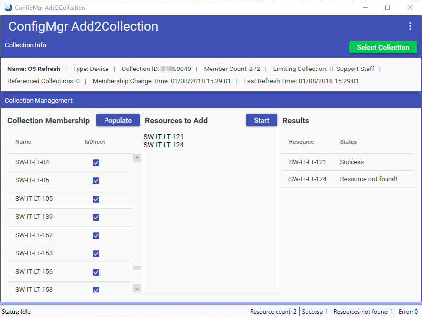 ConfigMgr Add2Collection