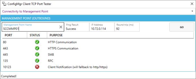 ConfigMgr Client TCP Port Tester – smsagent